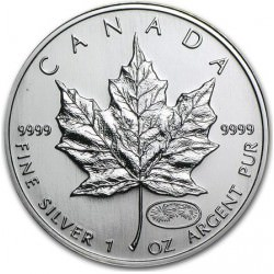 1 oz silver MAPLE LEAF 1999/2000 MILLENIUM privy