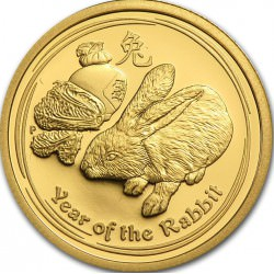 1/10 oz gold LUNAR RABBIT 2011