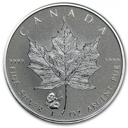 1 oz silver MAPLE LEAF 2016 PANDA privy