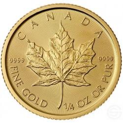 GOLD 1/4 oz GOLD MAPLE LEAF