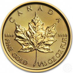 OR 1/10 oz GOLD MAPLE LEAF