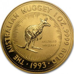 1 oz gold NUGGET 1993 wallaby
