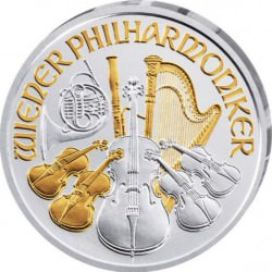 1 oz silver WIENER PHILHARMONIKER 2016 part. gilded