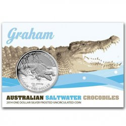 1 oz silver CROCODILE GRAHAM 2014