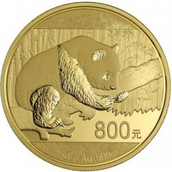 China 50gr gold PANDA 2016 proof