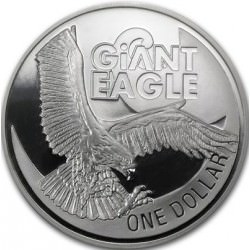1 oz silver KANGAROO 1998 frosted