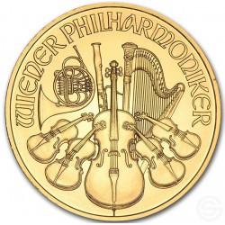 GOUD 1/10 oz GOLD WIENER PHILHARMONIKER 2015