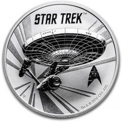 1 oz silver Tuvalu STAR TREK 2016 U.S.S. ENTERPRISE