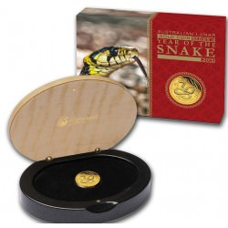 1/10 oz gold LUNAR SNAKE 2012 PROOF