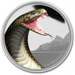 1 oz Silver Kings of Continents KING COBRA 2016