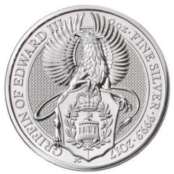 2 oz silver QUEENS BEAST 2017 GRIFFIN