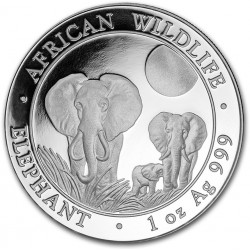 1 oz silver SOMALIA ELEPHANT 2017