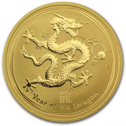 1 oz gold LUNAR DRAGON 2012