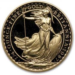 1/4 oz gold BRITANNIA 1987
