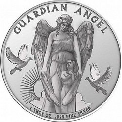 1 oz silver New-Zealand GUARGIAN ANGEL 2017