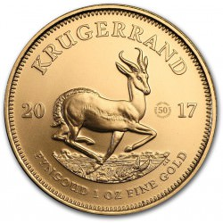 Gold 1 oz GOLD 2017 KRUGERRAND 50th ANNIVERSARY