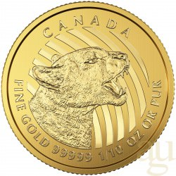 1/10 oz gold 2015 COUGAR essay card