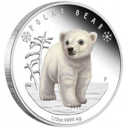 2017 Polar Bear 1/2oz Silver Proof Coin