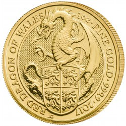 1 oz gold QUEEN'S BEAST 2017 RED DRAGON