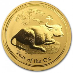 1/20 oz gold TIGER 2010