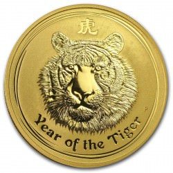 1/4 oz gold LUNAR TIGER 2010
