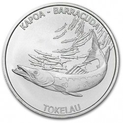 1 oz silver BARRACUDA 2017 TOKELAU
