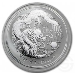 Zilver 1/2 oz silver DRAGON 2012