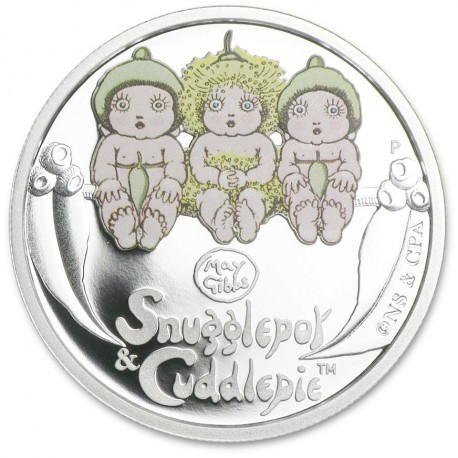1/2 oz Silver Snugglepot and Cuddlepie Proof 2016