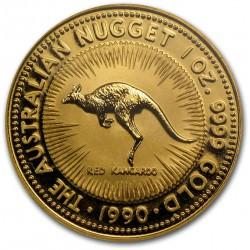 1 oz gold NUGGET 1990 RED KANGAROO
