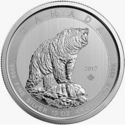 10 oz silver GRIZZLY 2017