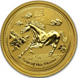 Or 1 oz gold LUNAR HORSE 2014