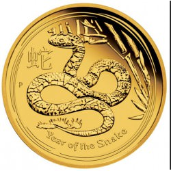 1 oz gold LUNAR SNAKE 2013