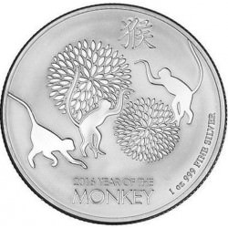 1 oz silver NIUE MONKEY 2016