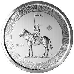 Canada 2 oz silver MOUNTED POLICE 2020 $10