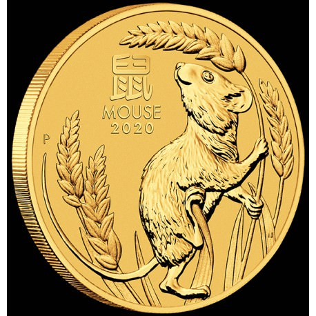 PM Lunar 3 Mouse 1/20 oz GOLD BU $5
