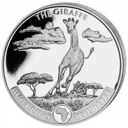 Wildlife 1 oz silver GIRAFFE 2019 Congo 20 Fr