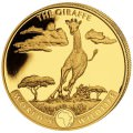 Wildlife 1 oz GOLD GIRAFFE 2019 Congo 100 Fr