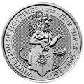 2 oz silver QUEEN'S BEAST 2019 The THE YALE OF BEAUFORT