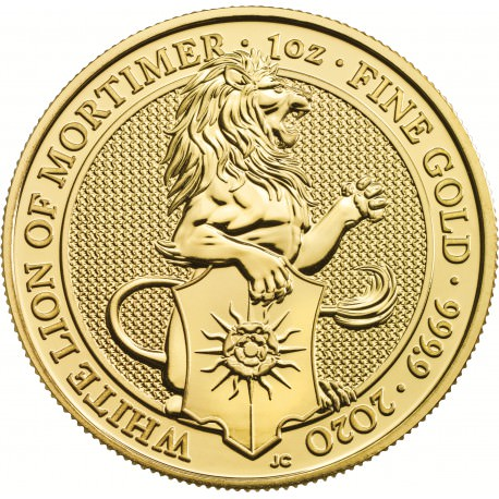 1 oz gold QUEEN'S BEAST 2019 The THE YALE OF BEAUFORT