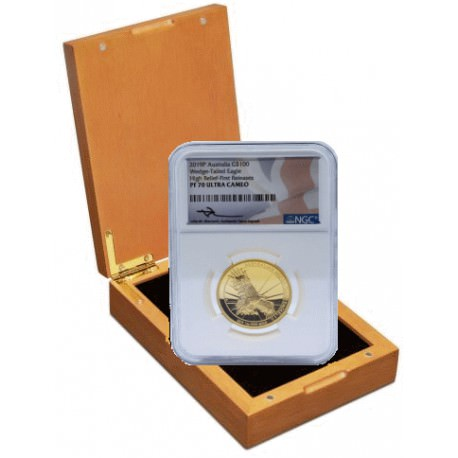 Australian Wedge-tailed Eagle 2019 1oz Gold Proof High Relief Coin NGC70 ULTRA CAMEO Box + COA