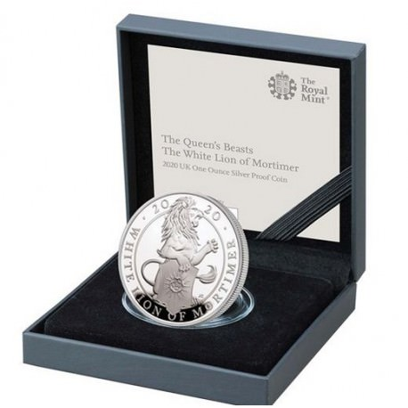 1 oz silver QUEEN'S BEAST 2020 The White Lion of Mortimer £5 PROOF