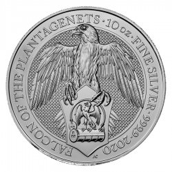 UK 10 oz silver Queen's Beast 2020 FALCON OF PLANTAGENETS £10