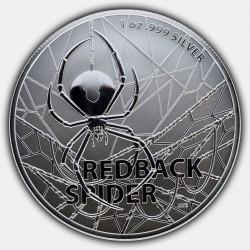RAM MOST DANGEROUS 1 oz silver REDBACK SPIDER 2020 $1