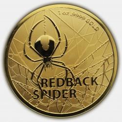 RAM 1 oz MOST DANGEROUS GOLD REDBACK SPIDER 2020 $100