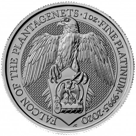 1 oz PLATINIUM PLATINUM QUEEN'S BEAST £100 BLACK BULL OF CLARENCE