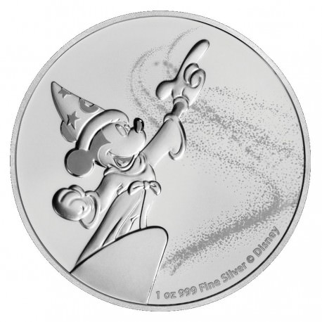 NIUE 1 oz silver Mickey Mouse FANTASIA 2019 $2