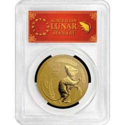 PM Lunar 3 Mouse 1 oz GOLD 2020 BU $100 Australia PCGS MS-70