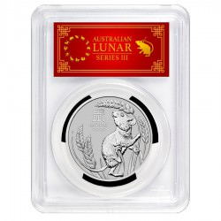 PM PLATINUM 1 oz Mouse 2020 $100 Australia PCGS MS-70