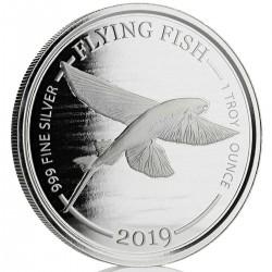 1 oz silver FLYING FISH 2019 Barbados $1