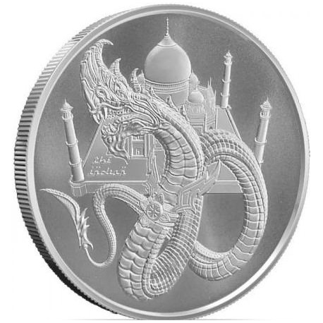 1 troy oz silver INDIAN DRAGON